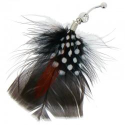 Piercing Nombril plume - modèle 2