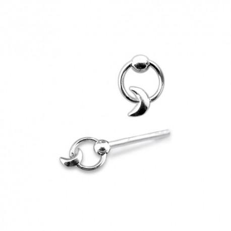 Piercing Nez Argent anneau et lune