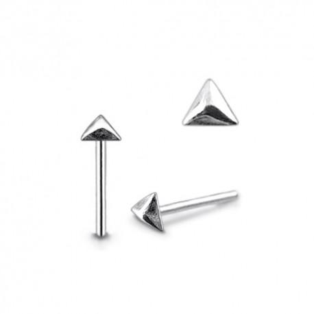 Piercing Nez Argent pyramide 3 côtés
