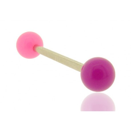 Piercing Langue Acrylique rose & violet