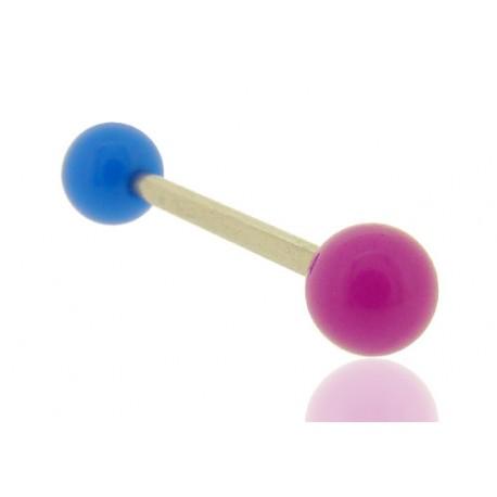 Piercing Langue Acrylique bleu & violet