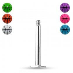 Piercing Labret ballon de basket