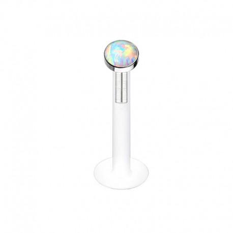 Piercing Labret Bioflex Opale violette clos