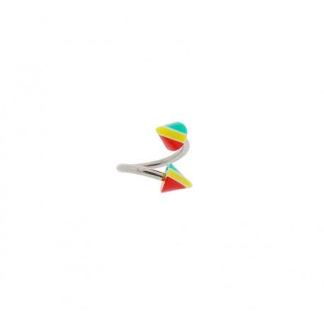 Piercing Spirale acier spike rasta