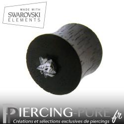 Plug Bois étoile de Swarovski® 12,5mm