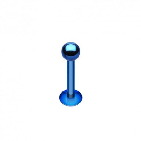 Piercing Labret 1,2mm Acier bleu foncé - 3mm