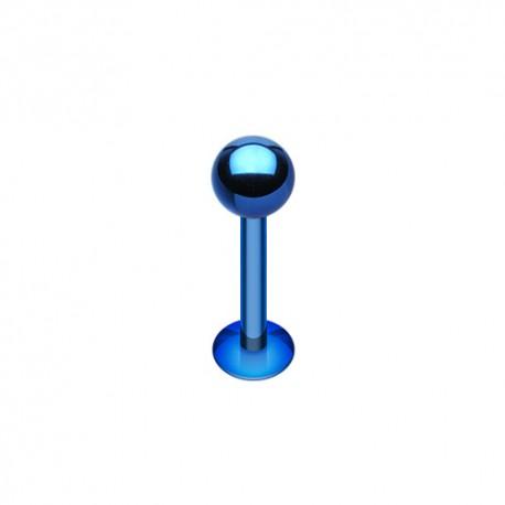 Piercing Labret 1,2mm Acier bleu foncé - 4mm