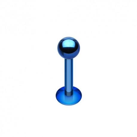 Piercing Labret 1,6mm Acier bleu foncé - 4mm