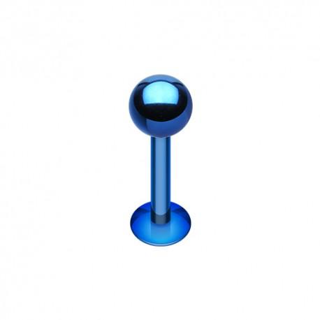 Piercing Labret 1,6mm Acier bleu foncé - 5mm