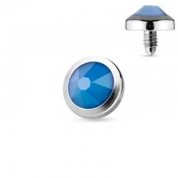 Microdermal Opalite bleue