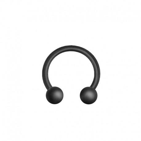 Fer à Cheval Acier noir mat bille - 1,6mm x 10mm
