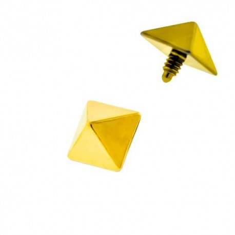 Microdermal Titane pyramide dorée