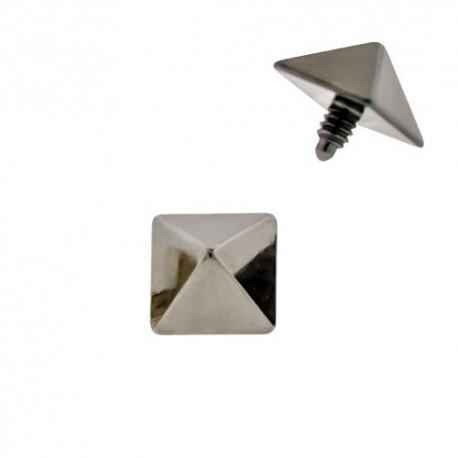 Microdermal Titane pyramide grise
