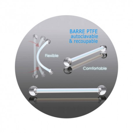 Barbell Retainer billes Acrylique 1,2 x 9mm