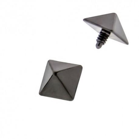 Microdermal Titane pyramide Blackline
