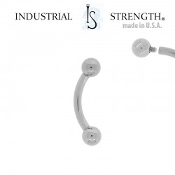 Piercing Banane Titane INDUSTRIAL STRENGTH® - 9mm
