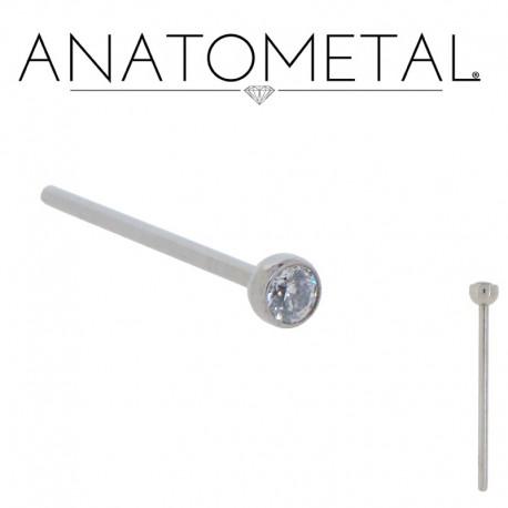 Piercing Nez Anatometal® avec pierre clos