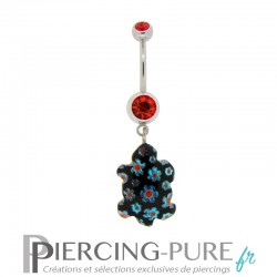 Piercing Nombril Verre Tortue