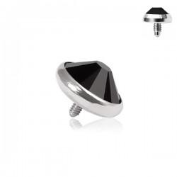 Microdermal Pierre clos noire 4mm