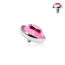 Microdermal Pierre clos fushia 4mm