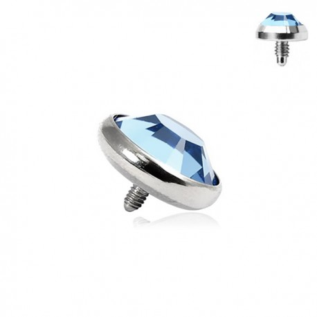 Microdermal Pierre clos bleue 4mm