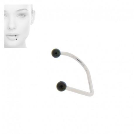 Piercing Labret hoop billes Blackline