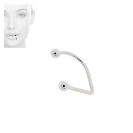 Piercing Labret hoop Acier