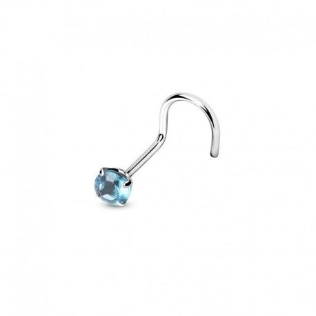 Piercing Nez Cristal turquoise griffé
