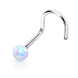 Piercing Nez Opale blanche