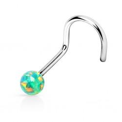 Piercing Nez Opale verte