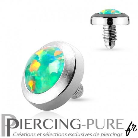 Microdermal Opale clos verte 4mm
