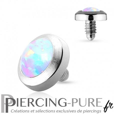Microdermal Opale clos blanche 4mm