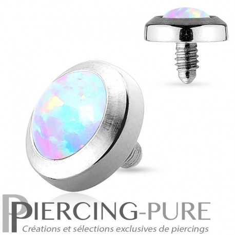 Microdermal Opale clos blanche 5mm