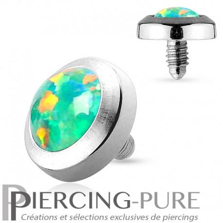 Microdermal Opale clos verte 5mm