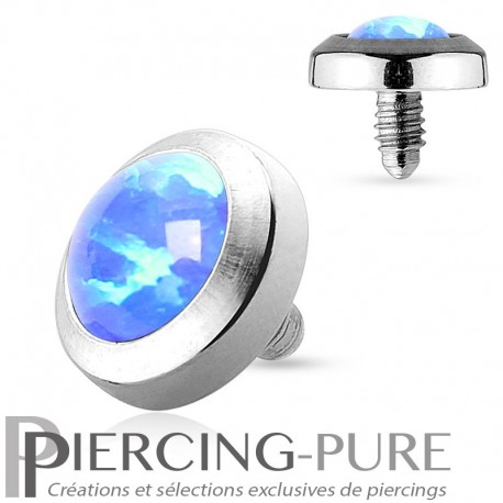 Microdermal Opale clos bleue 5mm