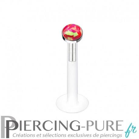 Piercing Labret Bioflex Opale de feu clos