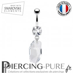 Piercing Nombril meteor Swarovski Elements