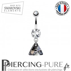 Piercing Nombril triangle Swarovski Elements