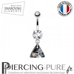 Piercing Nombril triangle Swarovski Elements