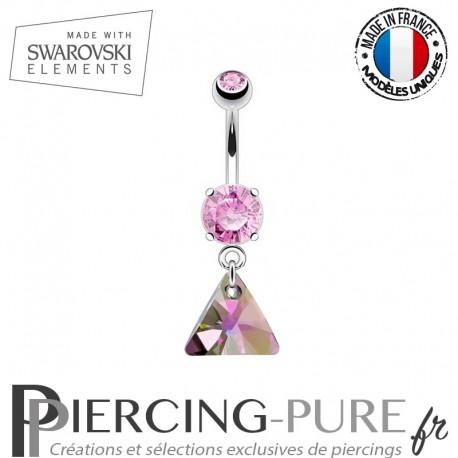 Piercing Nombril triangle Swarovski Elements Paradise