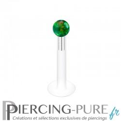 Piercing Labret Bioflex Opale verte