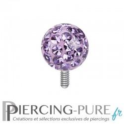 Microdermal boule de Cristaux violets