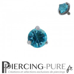 Microdermal Pierre griffée turquoise 5mm