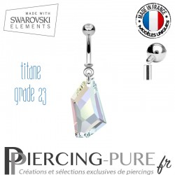 Piercing Nombril De-Art Swarovski Elements Crystal irisé