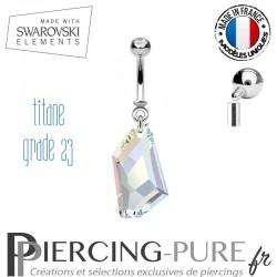 Piercing Nombril De-Art Swarovski Elements Crystal irisé