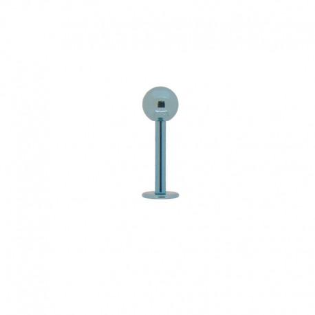 Piercing Labret 1,2mm Acier bleu - 4mm