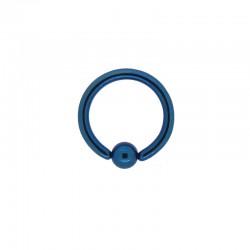 Anneau bille clipsée Acier bleu foncé - 1,2x8x3mm