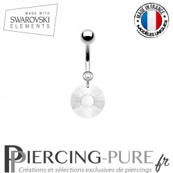 Piercing Nombril Soleil Swarovski Elements Crystal givré