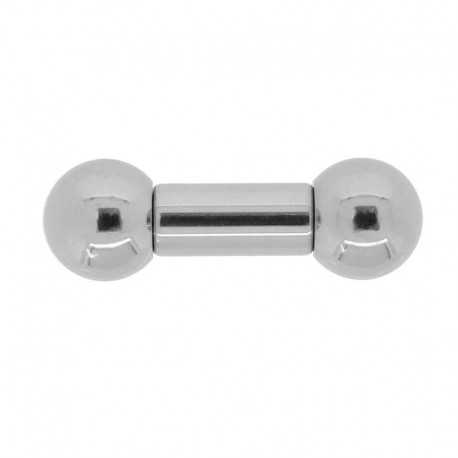 Piercing Barbell Acier interne - 6x12x10mm