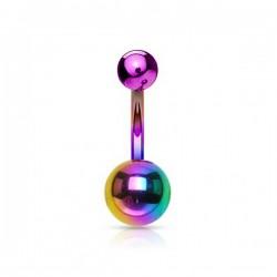 Piercing Nombril Acier anodisé essence et violet